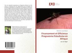 Financement et Efficience Programme Paludisme en Afrique kitap kapağı