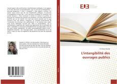 Portada del libro de L'intangibilité des ouvrages publics