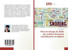Portada del libro de Prise en charge du SAOS par orthèse d'avancée mandibulaire en Algérie