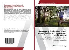 Bookcover of Bewegung in der Natur und Salutogenese für psychisches Wohlbefinde