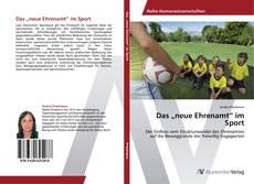 """Copertina di Das """"neue Ehrenamt"""" im Sport"""