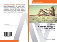 Copertina di Group and Individual Decision Making