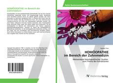 HOMÖOPATHIE im Bereich der Zahnmedizin kitap kapağı