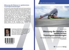 Buchcover von Messung der Balance in spielerischen Trainingsanwendungen