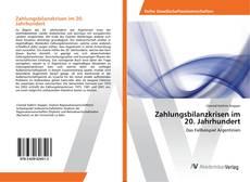 Bookcover of Zahlungsbilanzkrisen im 20. Jahrhundert