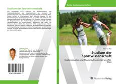 Обложка Studium der Sportwissenschaft