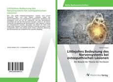 Capa do livro de Littlejohns Bedeutung des Nervensystems bei osteopathischen Läsionen