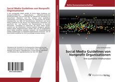 Couverture de Social Media Guidelines von Nonprofit Organisationen