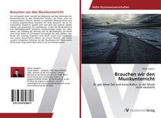 Capa do livro de Brauchen wir den Musikunterricht