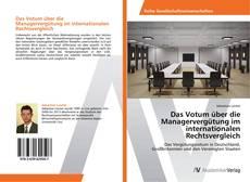 Buchcover von Das Votum über die Managervergütung im internationalen Rechtsvergleich