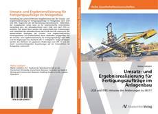 Capa do livro de Umsatz- und Ergebnisrealisierung für Fertigungsaufträge im Anlagenbau