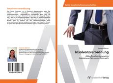 Bookcover of Insolvenzverordnung