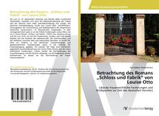 """Buchcover von Betrachtung des Romans """"Schloss und Fabrik"""" von Louise Otto"""