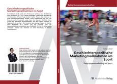 Capa do livro de Geschlechterspezifische Marketingmaßnahmen im Sport
