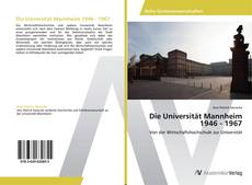 Capa do livro de Die Universität Mannheim 1946 - 1967