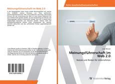 Buchcover von Meinungsführerschaft im Web 2.0