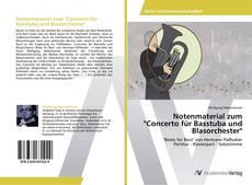 """Buchcover von Notenmaterial zum """"Concerto für Basstuba und Blasorchester"""""""