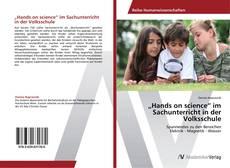 """Capa do livro de """"Hands on science"""" im Sachunterricht in der Volksschule"""