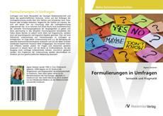Bookcover of Formulierungen in Umfragen