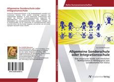 Capa do livro de Allgemeine Sonderschule oder Integrationsschule