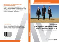 Instrumente zur Begegnung des Korruptionsproblems kitap kapağı
