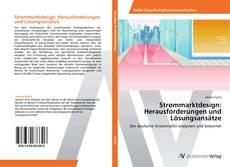 Bookcover of Strommarktdesign: Herausforderungen und Lösungsansätze