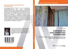 Buchcover von Leerstand im innerstädtischen Einzelhandel