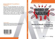 Buchcover von Word of Mouth Traceability in Facebook