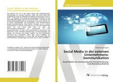 Buchcover von Social Media in der externen Unternehmenskommunikation
