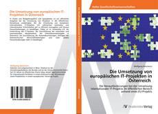 Buchcover von Die Umsetzung von europäischen IT-Projekten in Österreich
