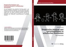 Buchcover von Empirische Analyse von Lernsituationen in schulischen Kontexten