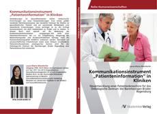 "Copertina di Kommunikationsinstrument ""Patienteninformation"" in Kliniken"