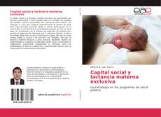 Copertina di Capital social y lactancia materna exclusiva