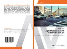 Capa do livro de Legal Questions with autonomous Cars