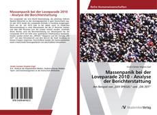 Buchcover von Massenpanik bei der Loveparade 2010 - Analyse der Berichterstattung