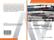 Leistungsschutzrecht für Presseverlage kitap kapağı