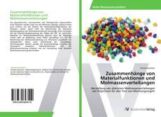 Обложка Zusammenhänge von Materialfunktionen und Molmassenverteilungen