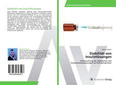 Bookcover of Stabilität von Insulinlösungen