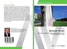 Capa do livro de Bernauer Straße