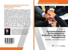 Portada del libro de Kompetenzbasierte Personalauswahl - Maßnahme des Diversity Managements