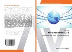 Krise der Demokratie kitap kapağı