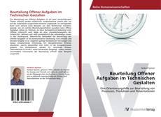 Beurteilung Offener Aufgaben im Technischen Gestalten kitap kapağı