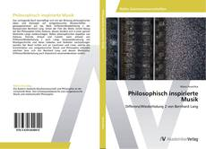Buchcover von Philosophisch inspirierte Musik