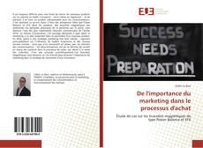 Portada del libro de De l'importance du marketing dans le processus d'achat