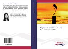 Bookcover of La pena de prisión en España