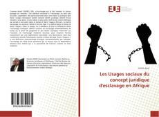 Bookcover of Les Usages sociaux du concept juridique d'esclavage en Afrique