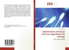 Portada del libro de Optimisation d'énergie dans les algorithmes de routage