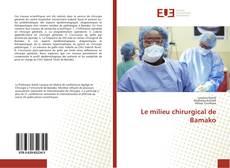 Copertina di Le milieu chirurgical de Bamako