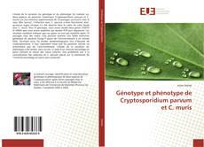 Capa do livro de Génotype et phénotype de Cryptosporidium parvum et C. muris