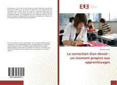 La correction d'un devoir : un moment propice aux apprentissages